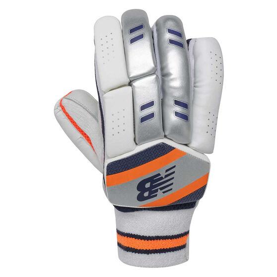 New Balance DC 400 Junior Cricket Batting Gloves, Blue/Orange, rebel_hi-res