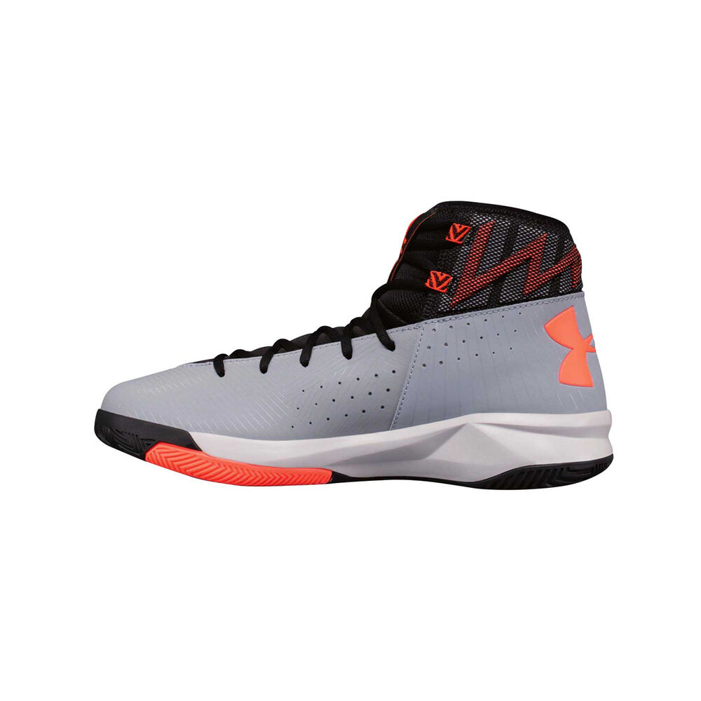 2e24740f785d Under Armour Rocket 2 Mens Basketball Shoes Black   Grey US 7 ...