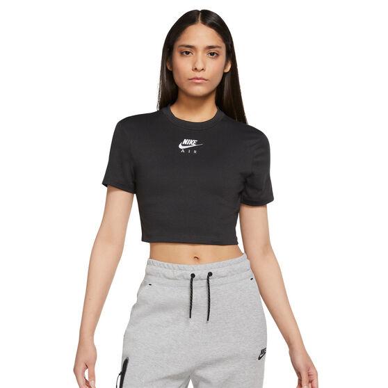 Nike Air Womens Crop Tee, Black, rebel_hi-res
