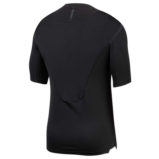 Nike Pro Mens AeroAdapt Tee, Black, rebel_hi-res