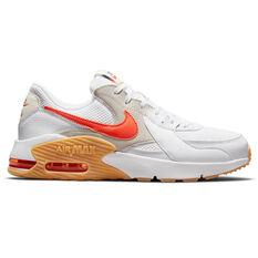 Nike Air Max Excee S50 Mens Casual Shoes White/Orange US 6, White/Orange, rebel_hi-res