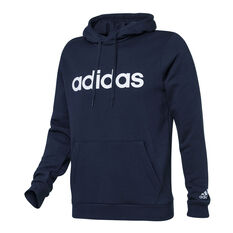 adidas Mens Essentials Linear Logo Hoodie Navy XS, , rebel_hi-res