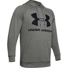 Under Armour Mens Volume Fleece Sportstyle Logo Hoodie Green XS, Green, rebel_hi-res