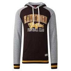 Hawthorn Hawks Mens Collegiate Pullover Hoodie Yellow S, Yellow, rebel_hi-res