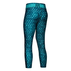 Under Amour Girls HeatGear Printed Ankle Crop Tights Teal XS, Teal, rebel_hi-res