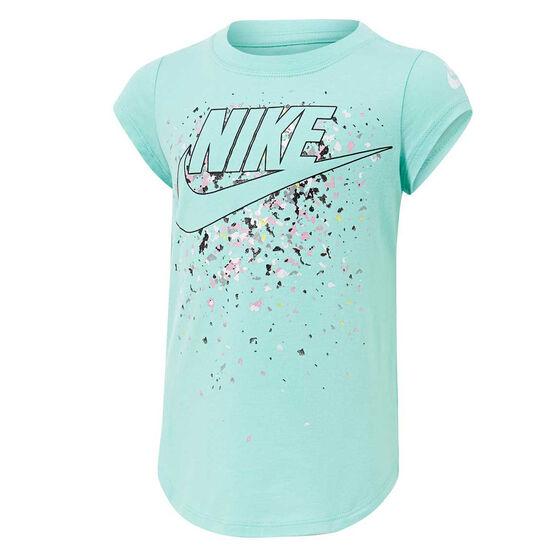Nike Girls Futura Waterfall Tee, Blue, rebel_hi-res