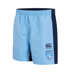 NSW Blues 2019 Mens Panel Tactic Shorts Blue S, Blue, rebel_hi-res