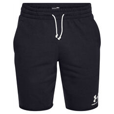 87a74f6639 Under Armour Mens Sportstyle Terry Shorts Black S, Black, rebel_hi-res ...