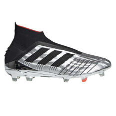 c8ead317bbdf0 adidas Predator 19+ Football Boots Silver   Black US Mens 7   Womens 8