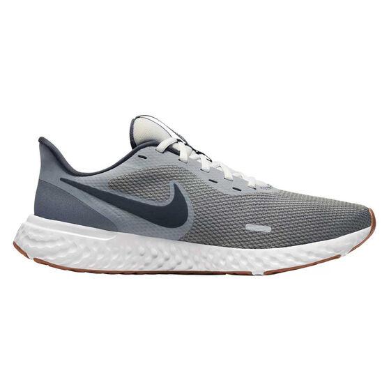 Nike Revolution 5 Mens Running Shoes, Grey / Black, rebel_hi-res