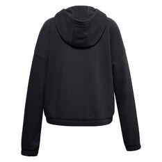Under Armour Girls VF Rival Fleece FZ Hoodie Black XS, Black, rebel_hi-res