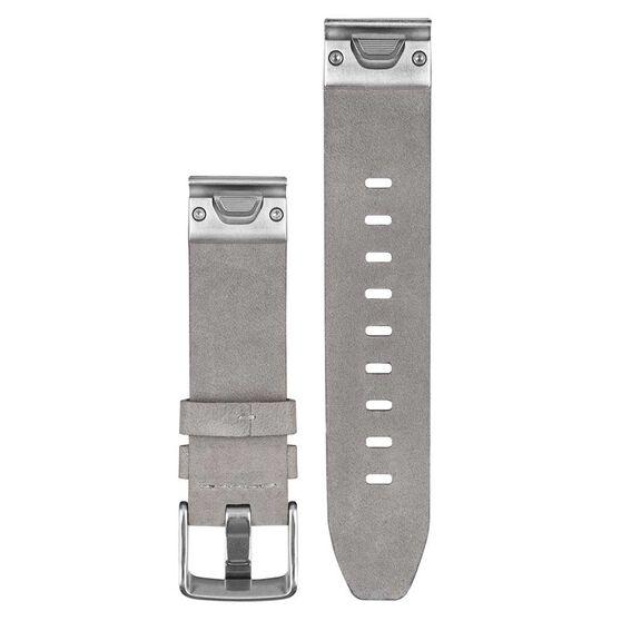 Garmin Fenix 5S QuickFit Leather Band Gray Suede 20mm, , rebel_hi-res