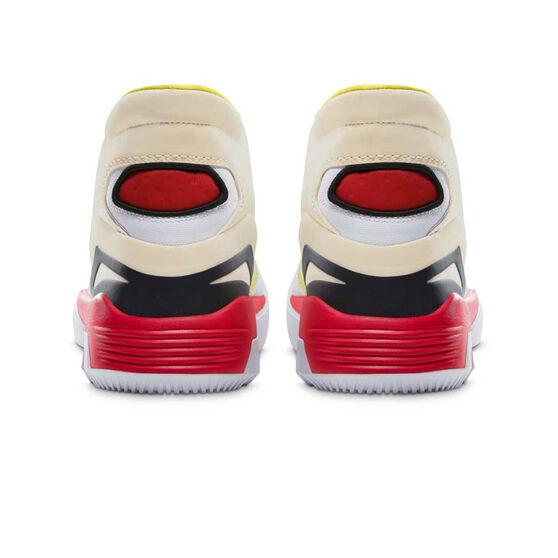 Converse G4 Mid Mens Basketball Shoes, White/Yellow, rebel_hi-res