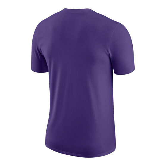 Los Angeles Lakers Mens Chrome Tee, Purple, rebel_hi-res