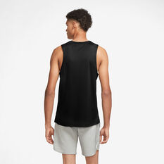 Nike Mens DriFit Miler Wild Run Graphic Tank Black S, Black, rebel_hi-res