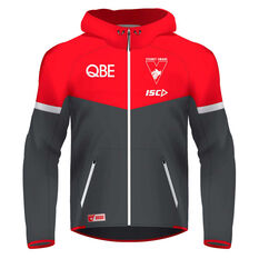 Sydney Swans 2020 Mens Tech Pro Hoodie Red/Grey S, Red/Grey, rebel_hi-res