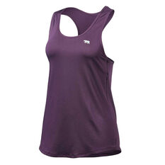 Running Bare Womens Back to Bare Workout Tank Purple 8, Purple, rebel_hi-res
