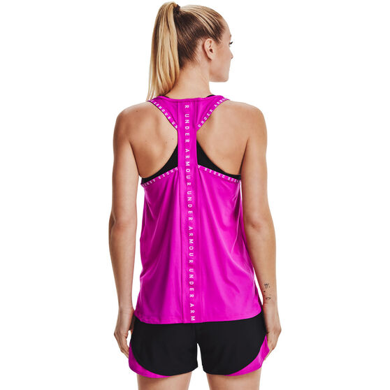 Under Armour Womens Knockout Tank, Pink, rebel_hi-res