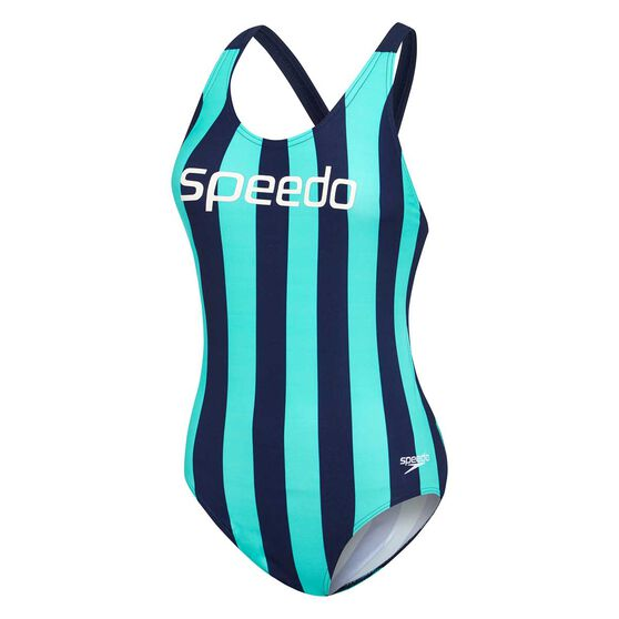 Speedo Womens Limitless Leaderback One Piece Swimsuit, Print, rebel_hi-res
