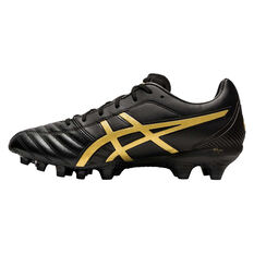 Asics Lethal Flash IT Football Boots Black / Gold US Mens 7 / Womens 8.5, Black / Gold, rebel_hi-res