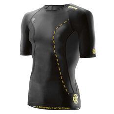 Skins Mens DNAmic Compression Short Sleeve Top Black XS, Black, rebel_hi-res
