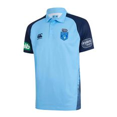 NSW State of Origin Mens Media Polo Blue S, Blue, rebel_hi-res