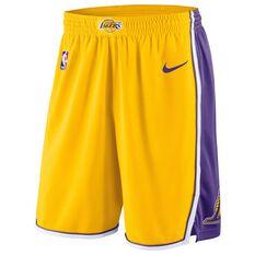 Nike Mens Los Angeles Lakers 2018 Home Swingman Shorts, , rebel_hi-res