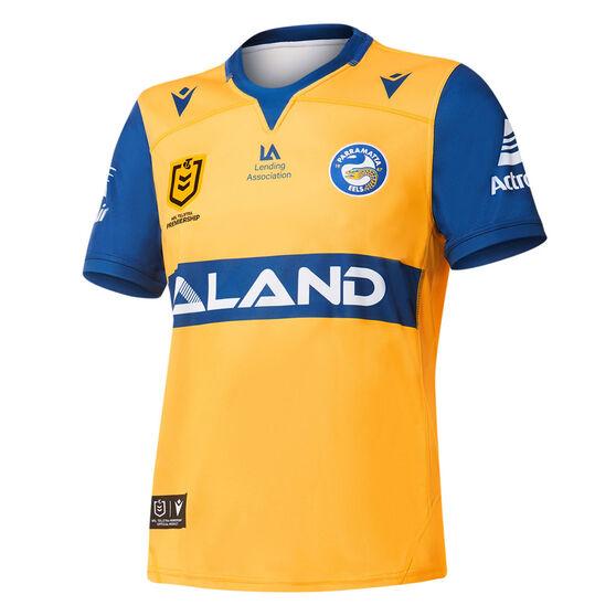 Parramatta Eels 2021 Mens Away Jersey, Yellow, rebel_hi-res