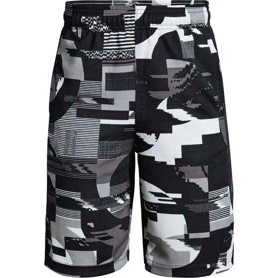 Under Armour Boys Baseline Shorts, Black / Grey, rebel_hi-res