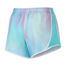 Nike Girls Dry Tempo Shorts Aqua / Purple XS, Aqua / Purple, rebel_hi-res