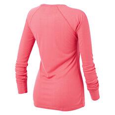 Tahwalhi Womens Peak Thermal Long Sleeve Top Pink 8, Pink, rebel_hi-res
