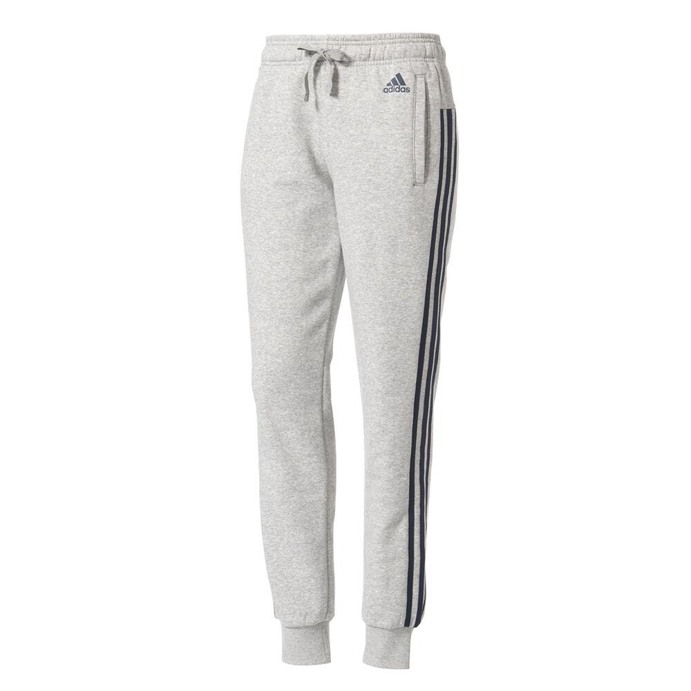 5500884044c6 adidas Womens Essentials 3 Stripe Pants Grey   Navy XS Adult