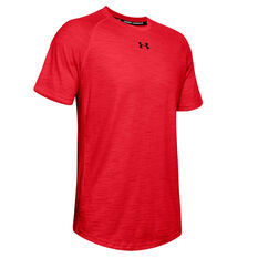 Under Armour Mens Charged Cotton Tee Red XS, Red, rebel_hi-res