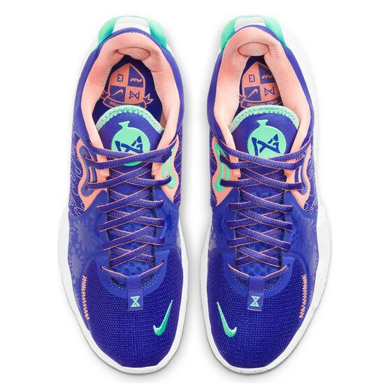 Nike PG 5 Mens Basketball Shoes, Blue, rebel_hi-res