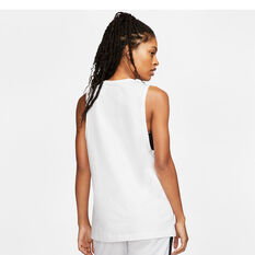 Nike Womens Sportswear Muscle Tank, White, rebel_hi-res