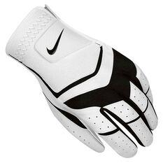 Nike Dura Feel VIII Mens Golf Glove White / Black Left Hand, White / Black, rebel_hi-res