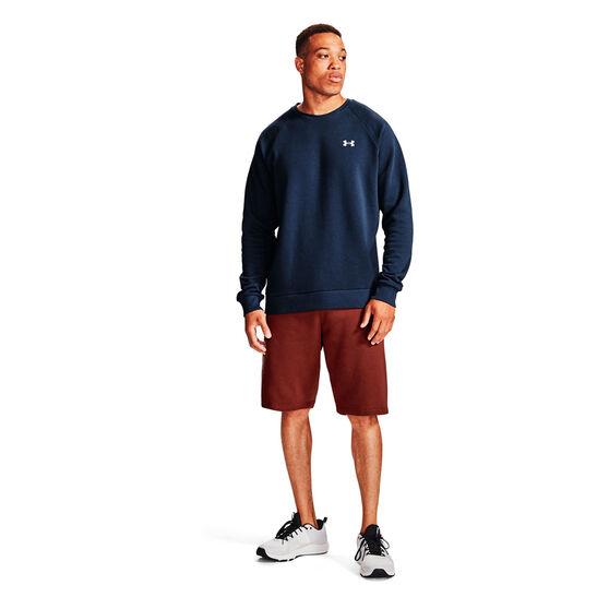 Under Armour Mens Volume Fleece Rival Cotton Sweatshirt, Navy, rebel_hi-res