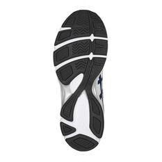 Asics Gel 195TR Leather 2E Mens Training Shoes White / Navy US 7, White / Navy, rebel_hi-res