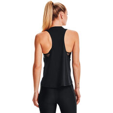 Under Armour Womens Project Rock Iron Tank, Black, rebel_hi-res