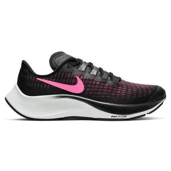 Nike Air Zoom Pegasus 37 Kids Running Shoes, Black / Pink, rebel_hi-res