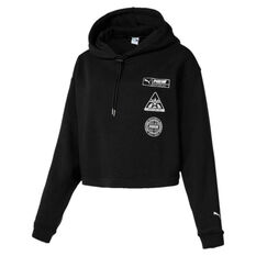 Puma Womens Trailblazer Hoodie Black / White XS, Black / White, rebel_hi-res