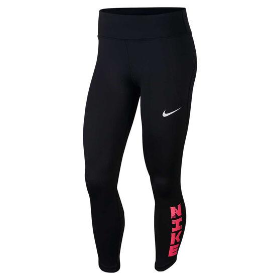Nike Womens Icon Clash Fast 7/8 Running Tights, Black, rebel_hi-res