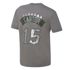 Mitchell & Ness Mens Toronto Raptors Vince Carter Name & Number Tee Grey S, Grey, rebel_hi-res