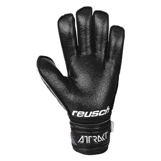 Reusch Attrack Resist Finger Support Goalkeeping Gloves, Black, rebel_hi-res