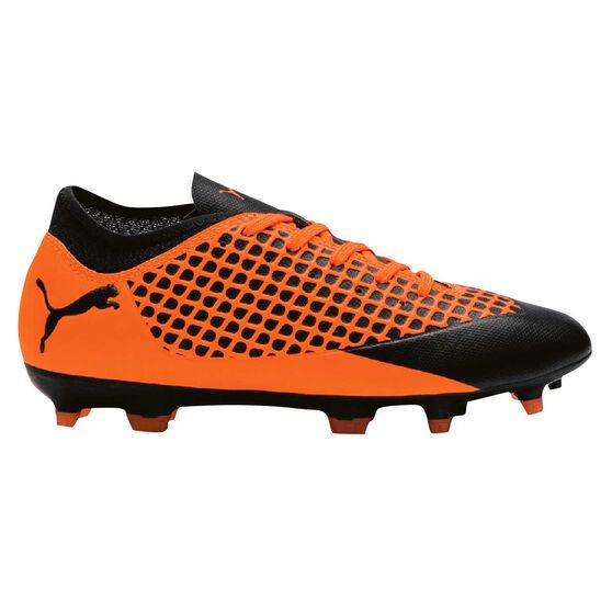 Puma Future 2.4 Junior Football Boots, Black / Orange, rebel_hi-res