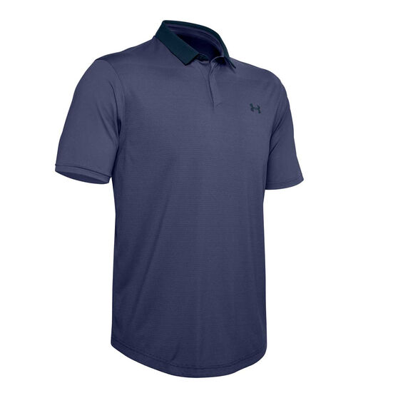 Under Armour Mens Iso-Chill Gradient Polo, Blue, rebel_hi-res