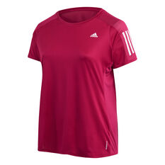 adidas Womens Own The Run Tee Plus, Purple, rebel_hi-res