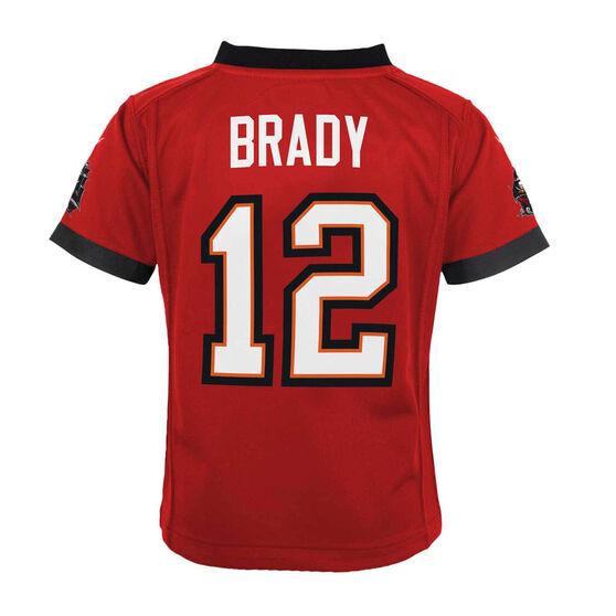 Tampa Bay Buccaneers Tom Brady 2020 Kids Jersey, Red, rebel_hi-res