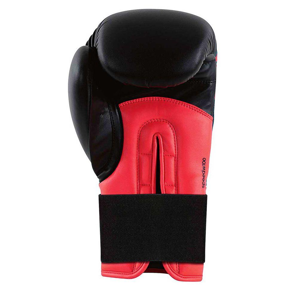 Rebel Sport Inner Gloves: Adidas Womens Speed 100 Boxing Glove Black / Red 12oz