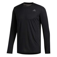 adidas Mens Own the Run Top Black S, Black, rebel_hi-res